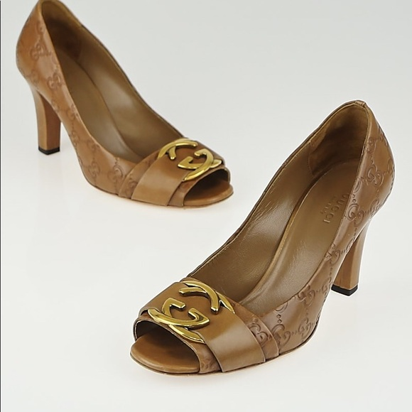 1a4471ba7 Gucci Shoes - Gucci Guccissima Leather Interlocking G Heels
